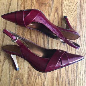 Anne Klein Slingback Dark Red/Maroon Heels, size 8